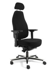 Bureaustoel Therapod X HR, hoofdsteun Wolvilt Fenice 651 zwart