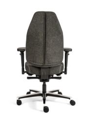 Bureaustoel Therapod X standaard, Wolvilt Fenice 603 donkergrijs