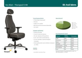 Bureaustoel Therapod X HR, hoofdsteun Wolvilt Fenice 603 donkergrijs