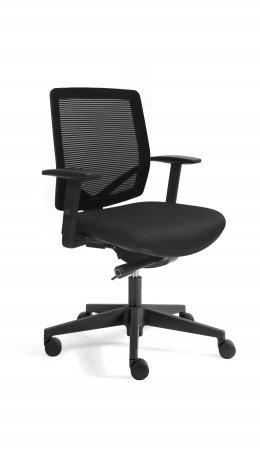 Bureaustoel thuis EM 300 , rug in mesh zwart