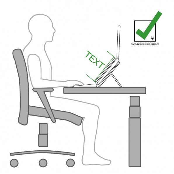 zitinstructie bureaustoel : document op juiste locatie :  stap 7