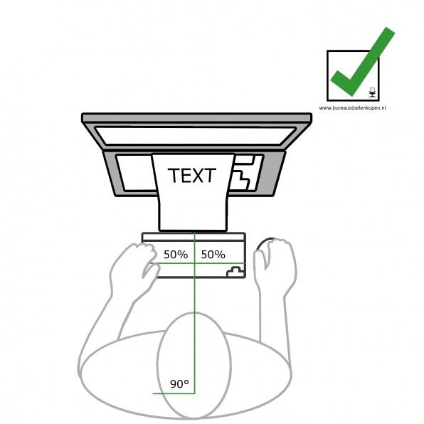 zitinstructie bureaustoel : toetsenbord op juiste locatie  stap 9