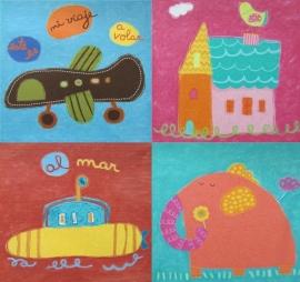 Schilderijtje`s keuze uit 4 afbeeldingen