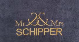 Badjasset  Mr && Mrs met naam