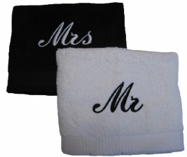 Handdoeken set: Mr & Mrs