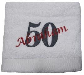 Handdoek 50 jaar Abraham of Sarah