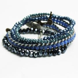 NIEUW! Armbanden set blauw