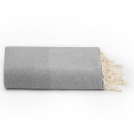 Plaid of grand foulard katoen - Grijs - 198x300cm (LANTARA)