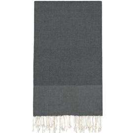 Plaid of grand foulard katoen - Zwart - 195x300cm (LANTARA)