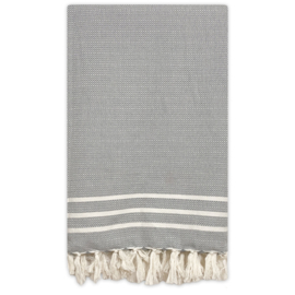 Plaid Throw Diamant Stripes - Grey - 160x250cm (LANTARA)