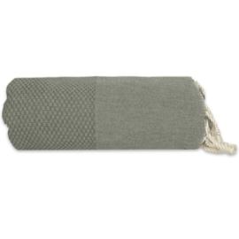 Plaid of grand foulard katoen -  Mosgroen - 195x300cm (LANTARA)