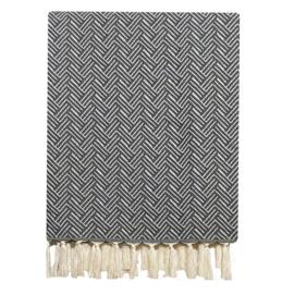 Plaid Deken Wol - Vienna - Dark Grey - 160x250cm