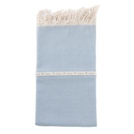 Hamamtuch Iceblue  - Tweed (LANTARA), 100x180cm