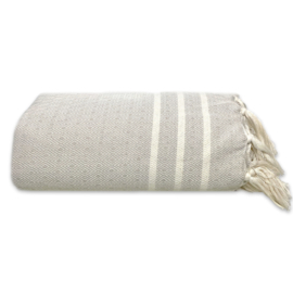 NEW! Plaid Throw Diamant Stripes - Sand - 160x250cm (LANTARA)