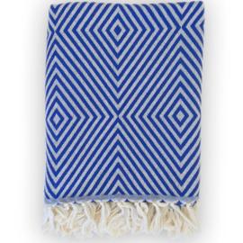 Plaid Oslo Wol Katoen - Cobalt Blauw - 120x150cm (LANTARA)