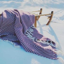Plaid Oslo Wol Katoen - Bougainville Roze - 120x150cm (LANTARA)