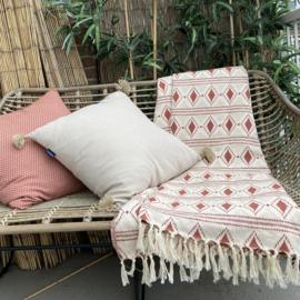 Sprei Grand foulard BOHO - Terracotta - LANTARA - 160x250cm