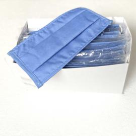 10x Mondkapje Mondmasker, Wasbaar, Niet-medisch Blauw