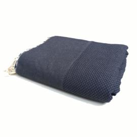 Plaid of grand foulard - Marine Blauw - 198x280cm (LANTARA)