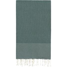 Plaid of grand foulard katoen -  donkergroen - 186x300cm (LANTARA)