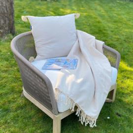 Plaid of grand foulard Zand  - 190x300cm (LANTARA)