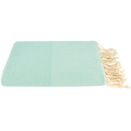 Plaid of grand foulard katoen - Mint - 195x300cm (LANTARA)