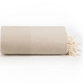 Plaid of grand foulard licht Taupe  - 195x300cm (LANTARA)