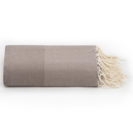 Plaid of grand foulard  katoen -  Taupe - 198x300cm (LANTARA)