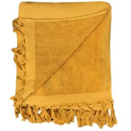 Hamamdoek badstof -  Oker geel - 100x210cm (LANTARA)