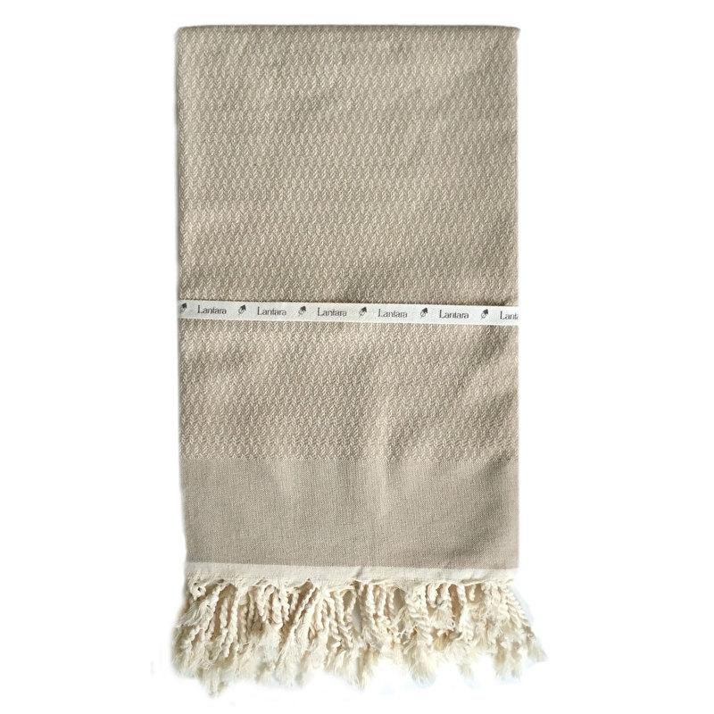 Hamamtuch Tweed - Beige (LANTARA) 100x180cm