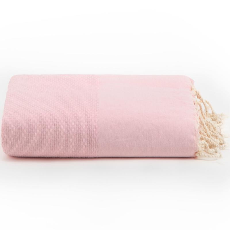 Plaid of  grand foulard katoen - Roze - 195x300cm (LANTARA)