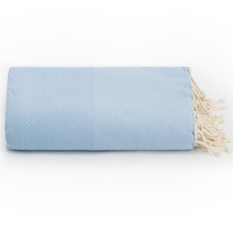 Jeté de canapé - Bleu Ciel -195x300cm (LANTARA) | Jetés ...