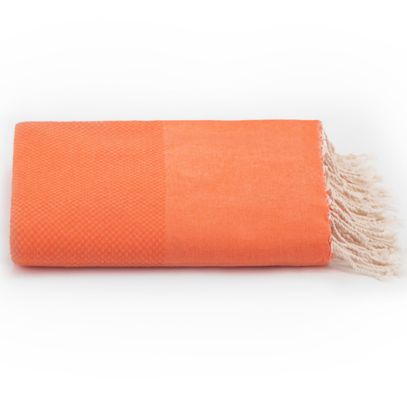 Plaid of grand foulard katoen - Oranje - 195x300cm (LANTARA)