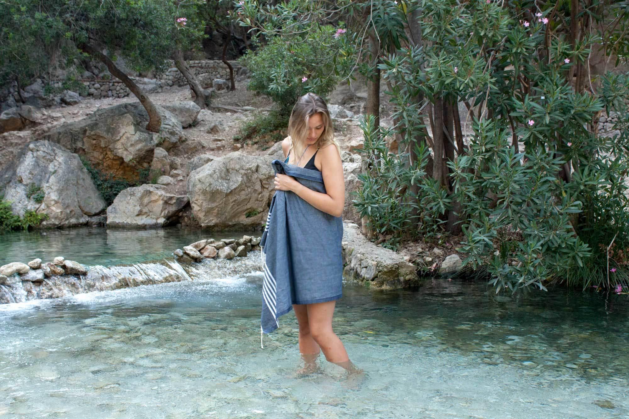 Hamamdoek Provence Blauw Hamamtuch Provence Blau