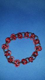 Ring armband rood smal