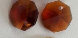 Octagon kraal - oranje/bruin
