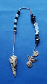 Maansteen pendel met opaliet en onyx