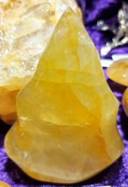 Golden healer / Limoniet kwarts vlam gepolijst