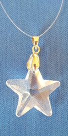 "Kristal raamhanger ""ster"" klein, ca. 2,5cm"