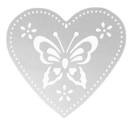 Filigraan hart met vlinder
