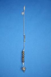 Metalen pendel met Labradoriet
