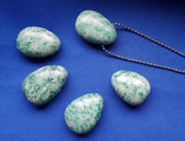 Edelsteen druppel Jade - plat