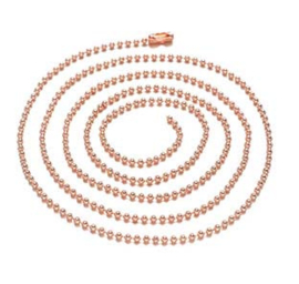 Ball chain (bolletjesketting) ± 80cm (± 2,4mm dik) - Rose goud