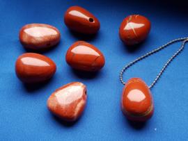 Edelsteen druppel Jaspis Rood