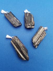 Zwarte Tourmalijn hanger - ruw