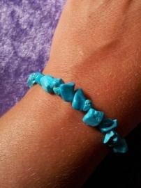 Split armband smal - howliet - blauw