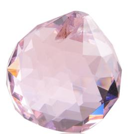 "Kristal raamhanger ""Bol"" 3 cm - Roze"
