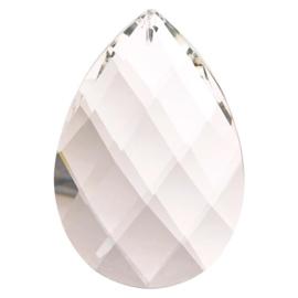 """Kristal raamhanger """"druppel"""" groot, ca. 7,6 bij 5cm"""