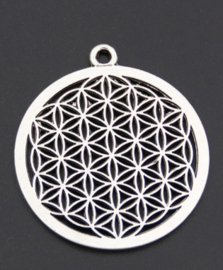 Flower of life met rand