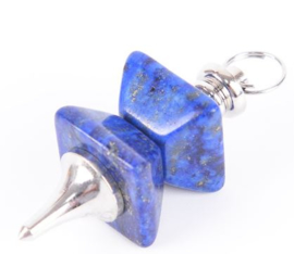 Lapis lazuli pendel hoekig